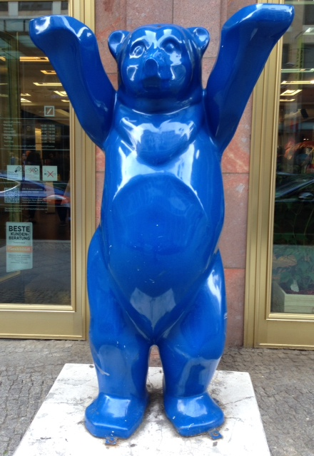 Blue Berlin Buddy Bear