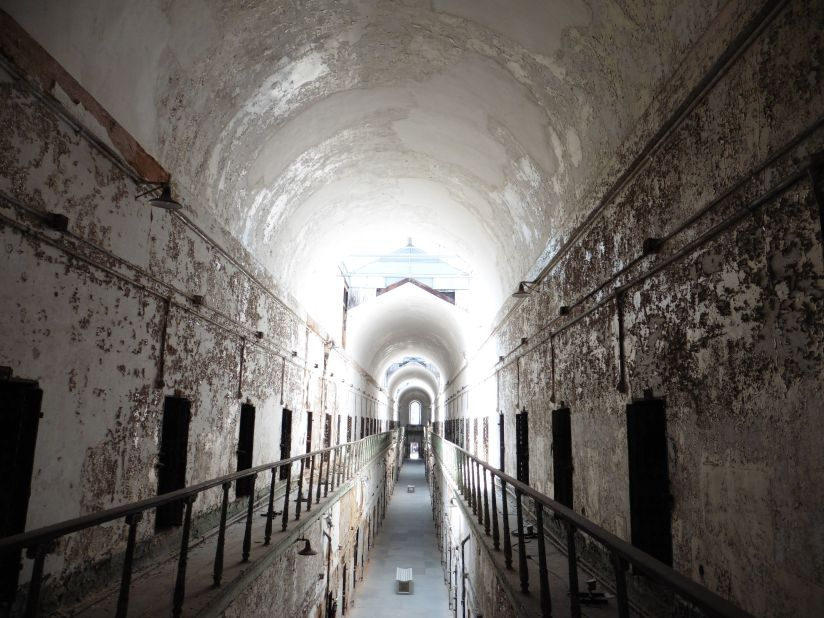 a cell block at eastern penitentiary
