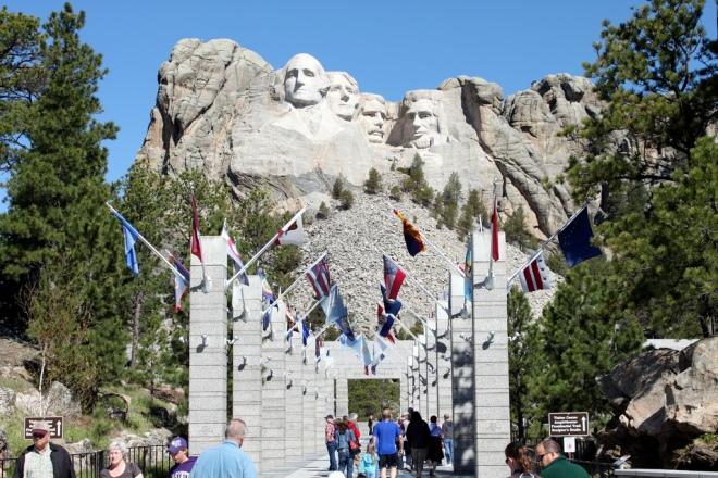 Mt Rushmore plaza