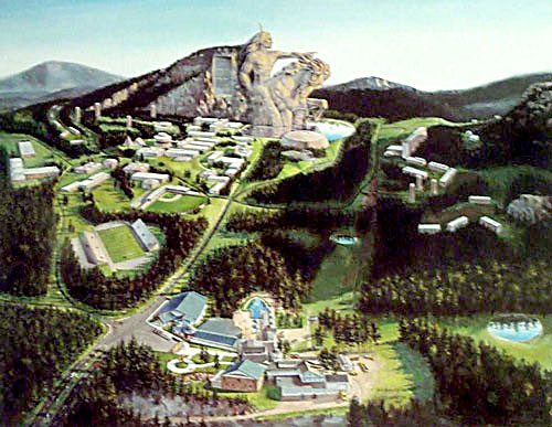 Artist depiction of completed memorial