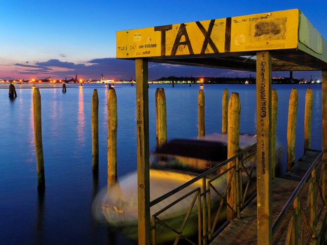 Venetian water taxi