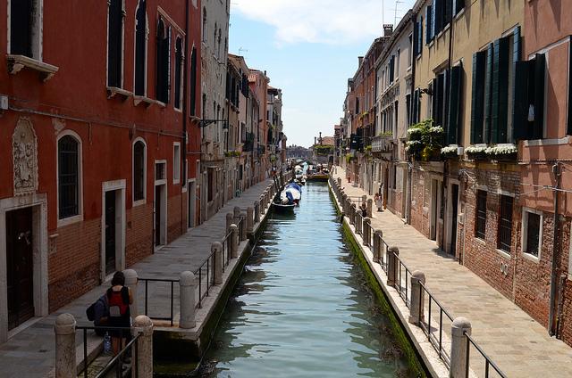 Venice back street canal