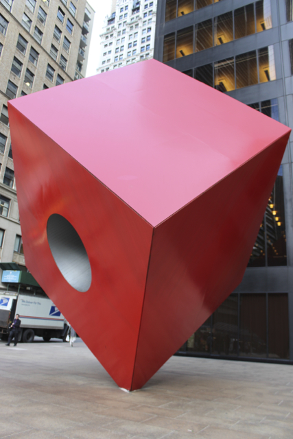 Red Cube in the Financial District