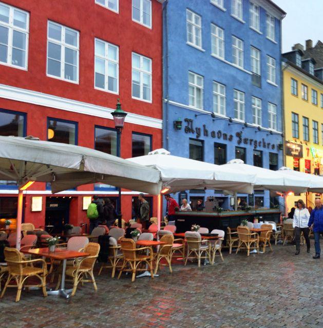 Outdoor cafe in Nyhavn
