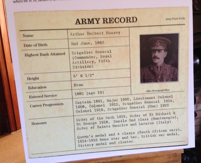 Hussey Army Record