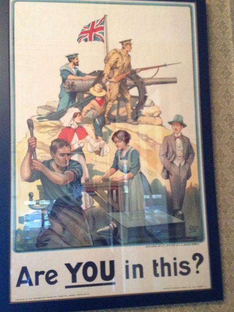 World War I recruiting poster