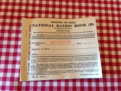 World War I ration book