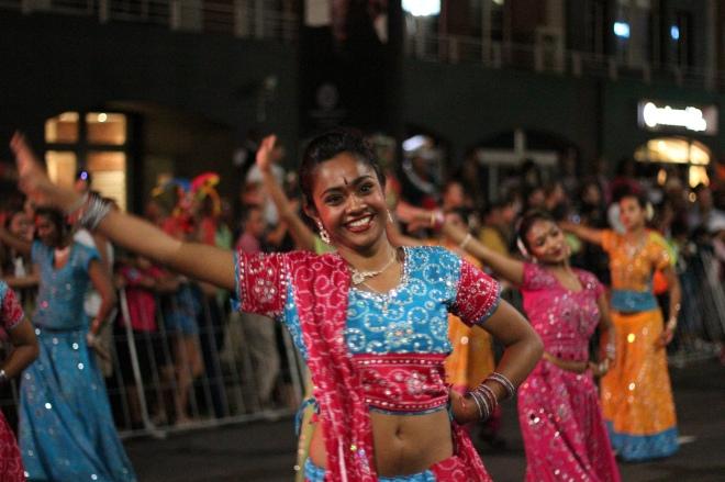 dancers at the minstrel carnival