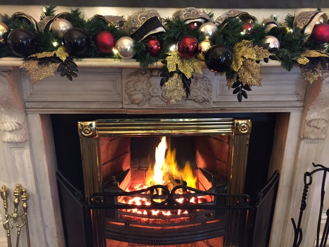 christmas fireplace at the sherbourne