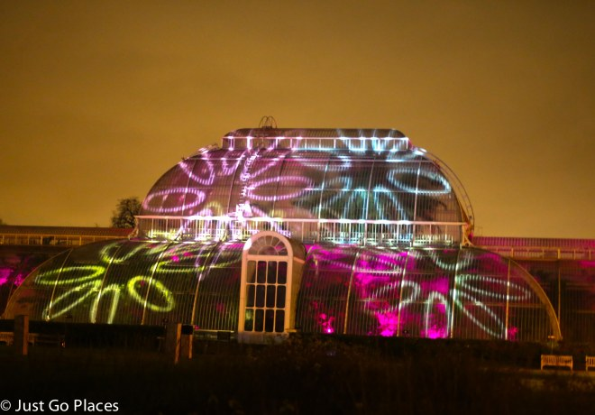 christmas lights on the conservatory