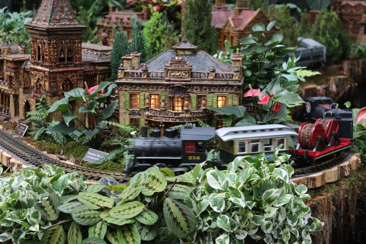 train at the new york holiday train show