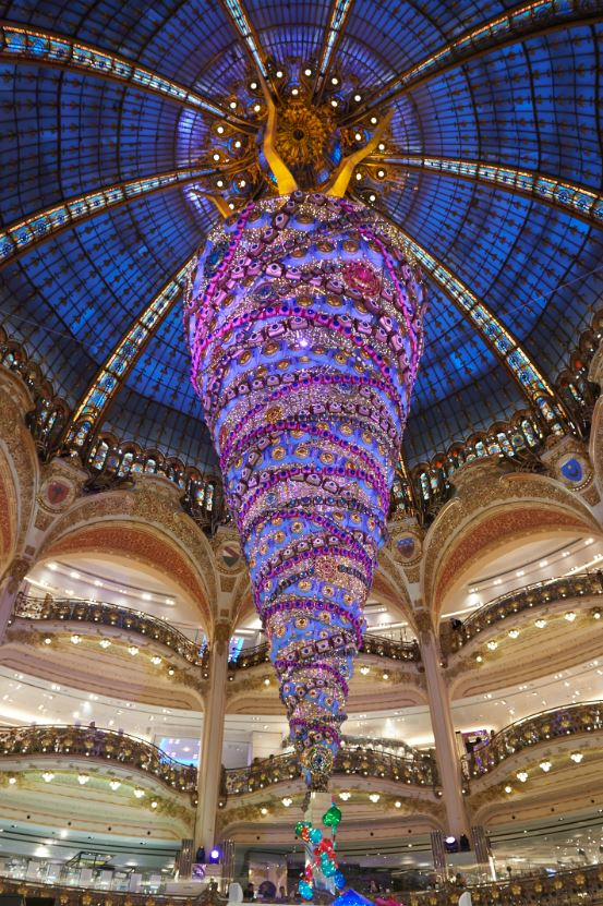 Galeries Lafayettes upside down Christmas Tree