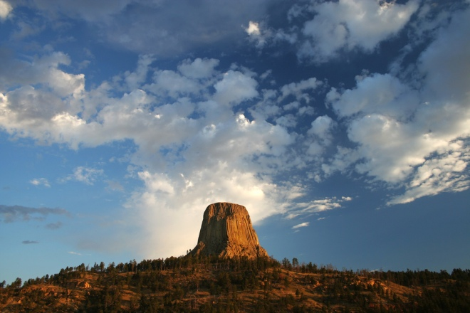 Devils Tower at sunrise