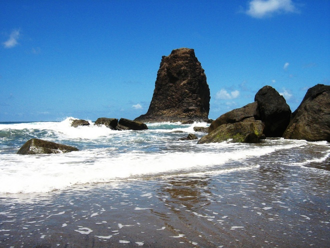 black sand beach at Tenerife
