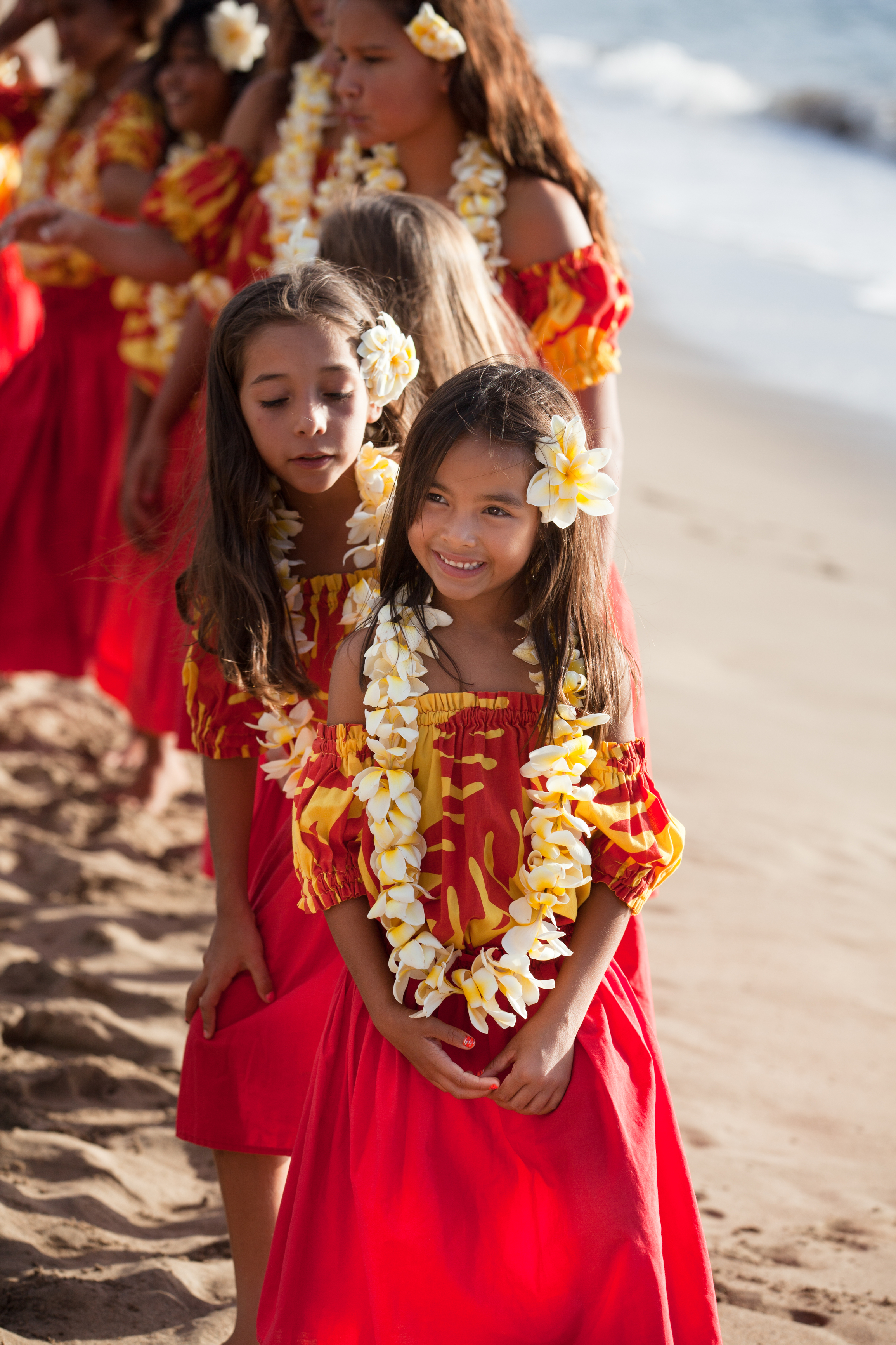 Beautiful Young Hula girls