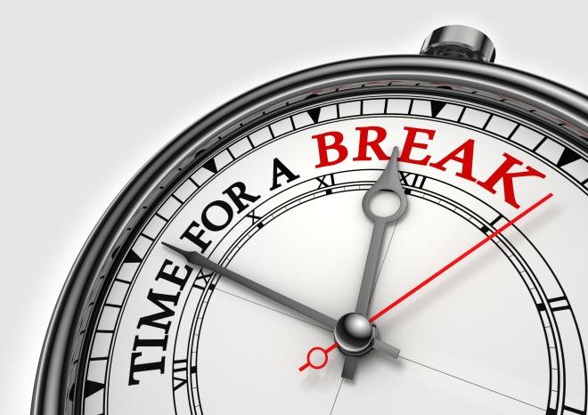 Time fora break concept clock