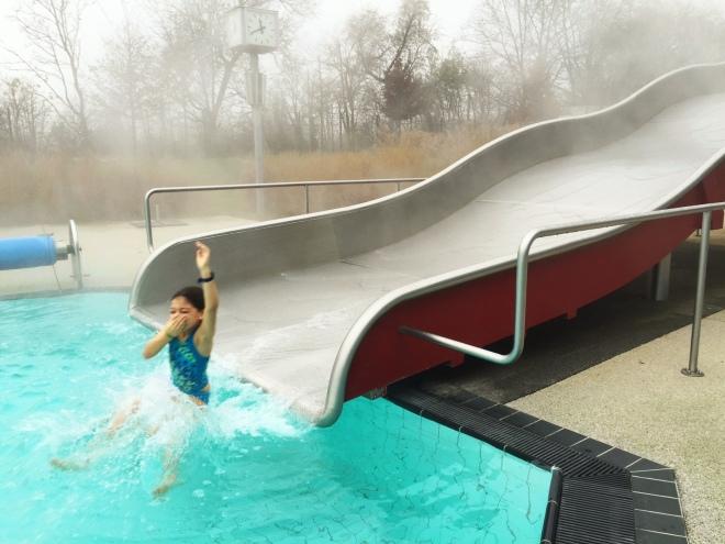 Therme wien outdoor slide