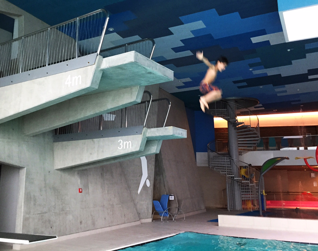 Therme wien diving board
