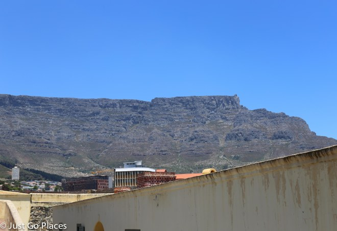 table mountain seen from good hope castle