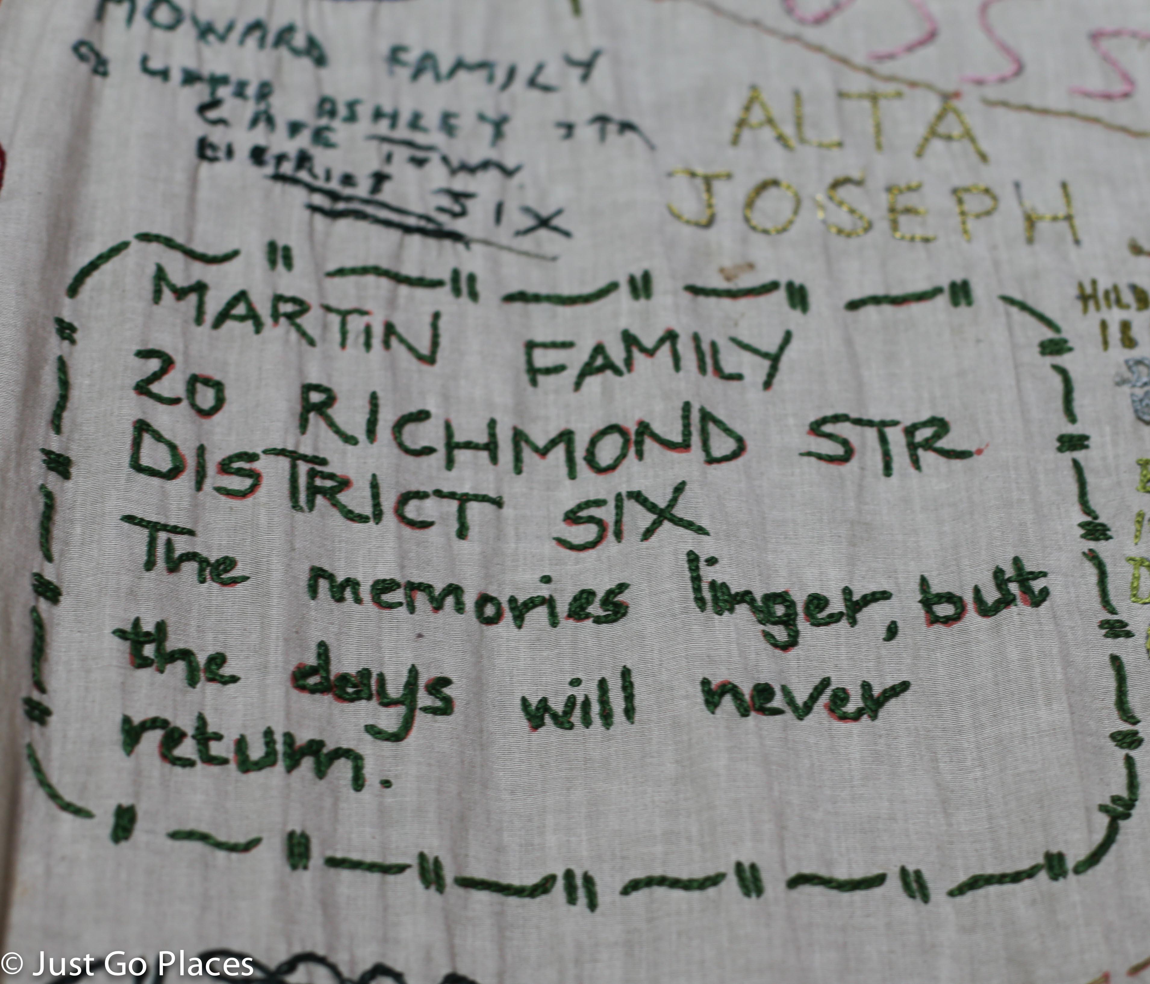 district 6 memorial cloth