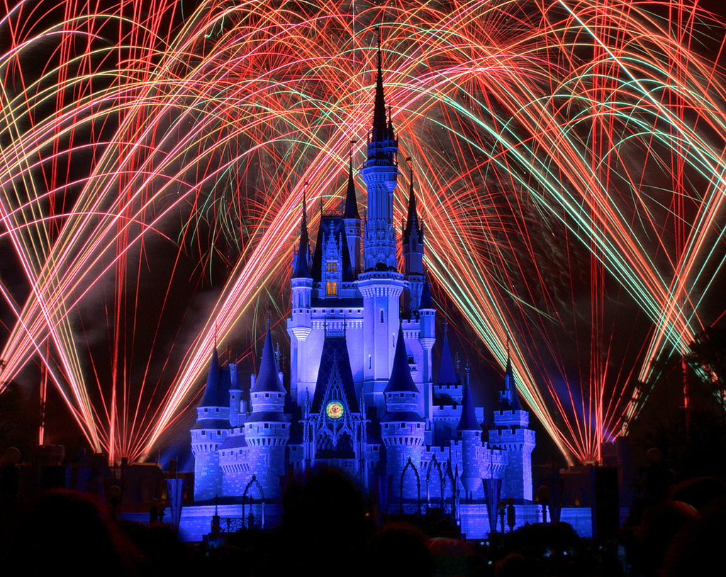 fireworks over Disney