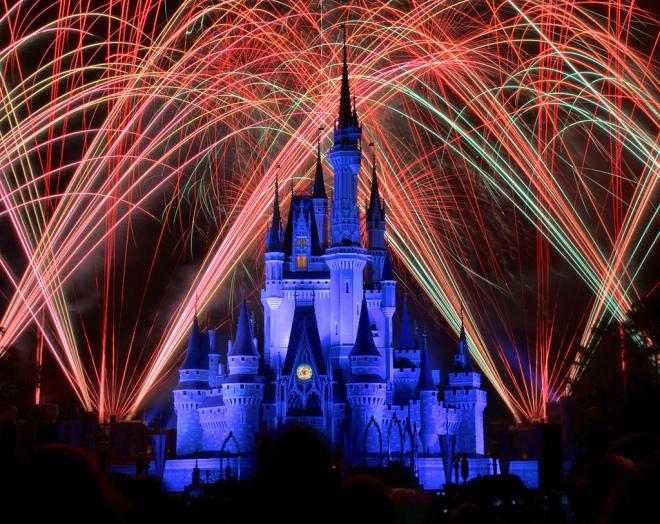 fireworks over Disney