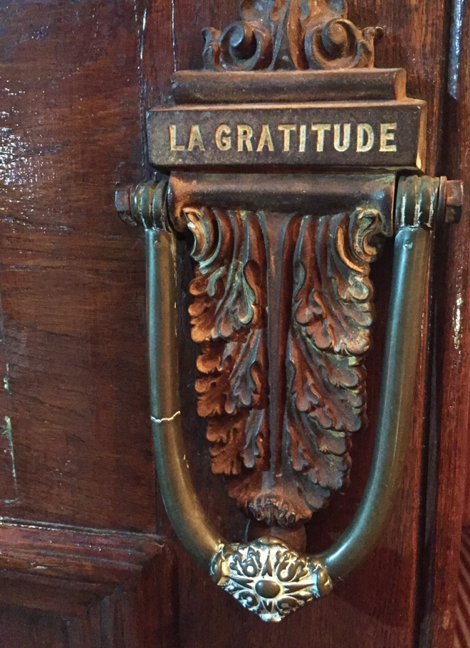 La Gratitude door knocker
