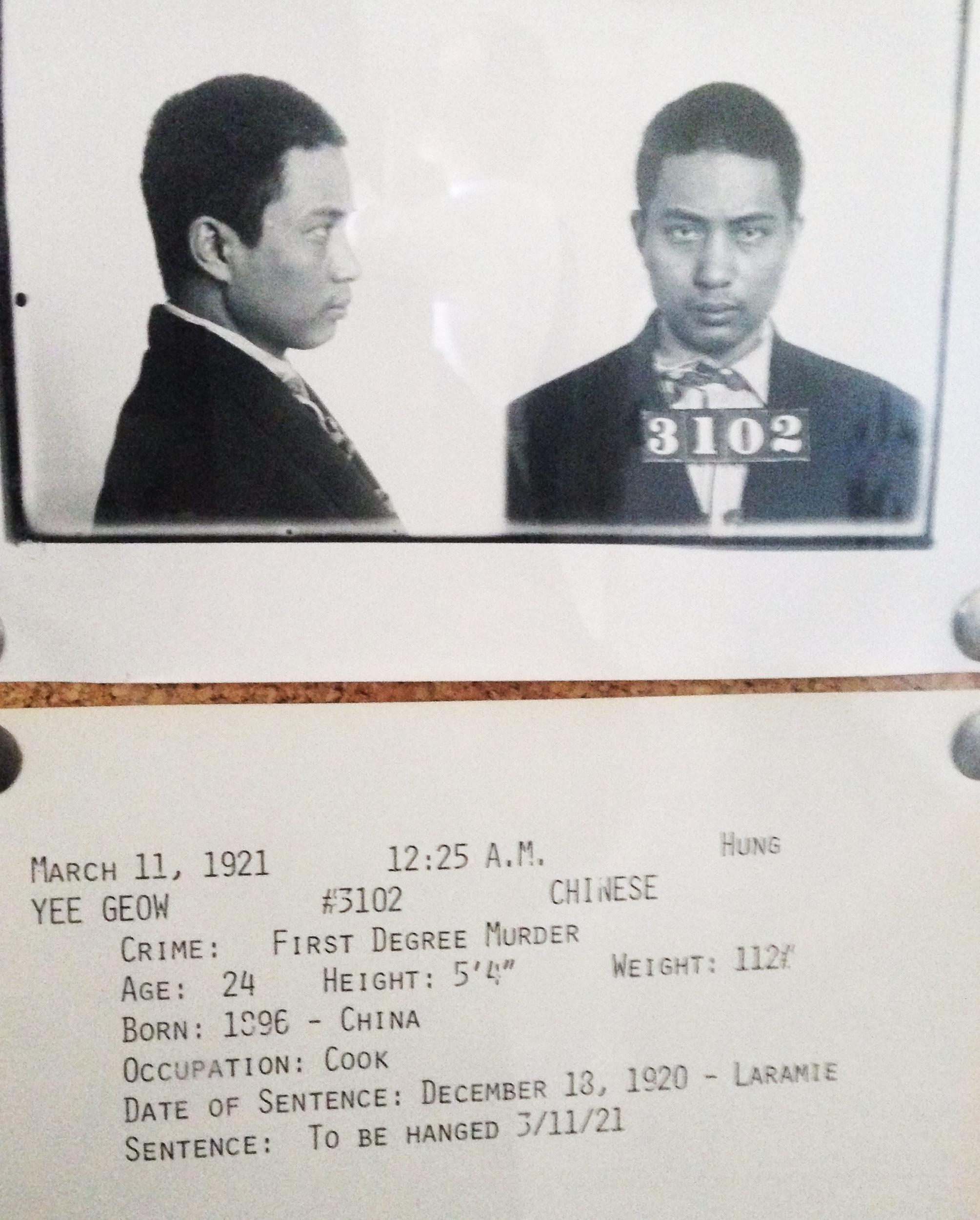 Wyoming Frontier Prison prisoner