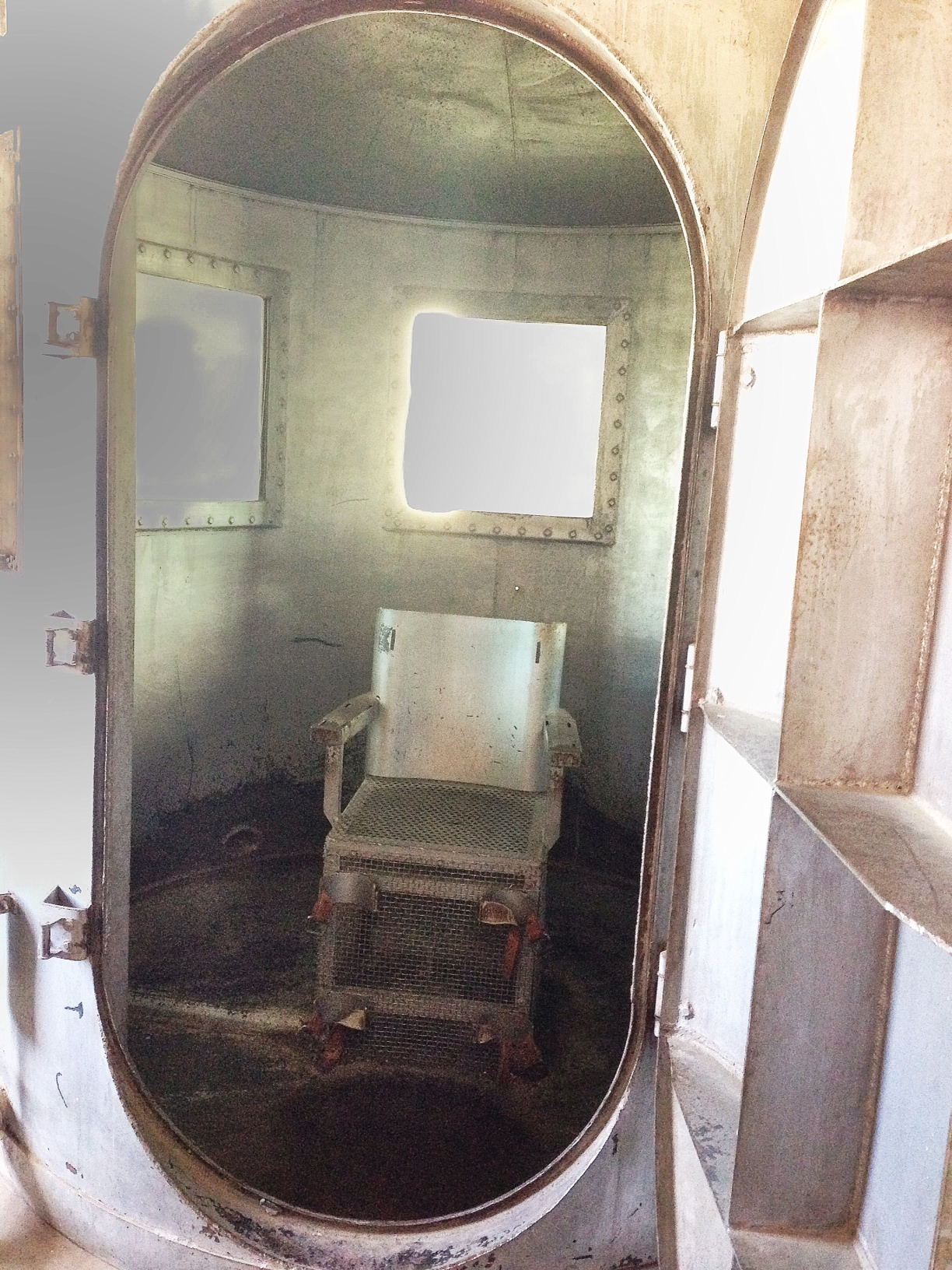 Inside the gas chamber
