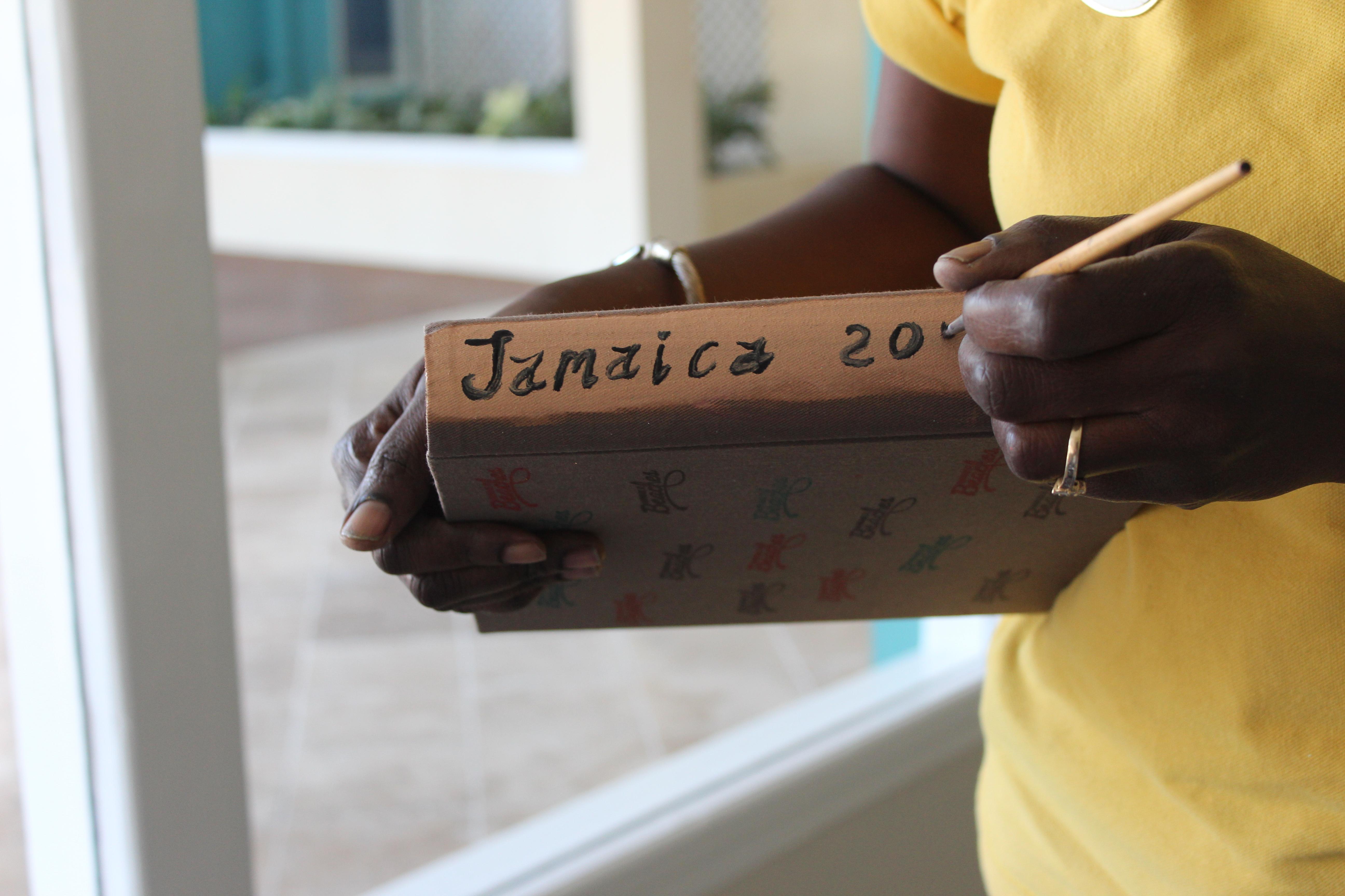 jamaica scapbook sign