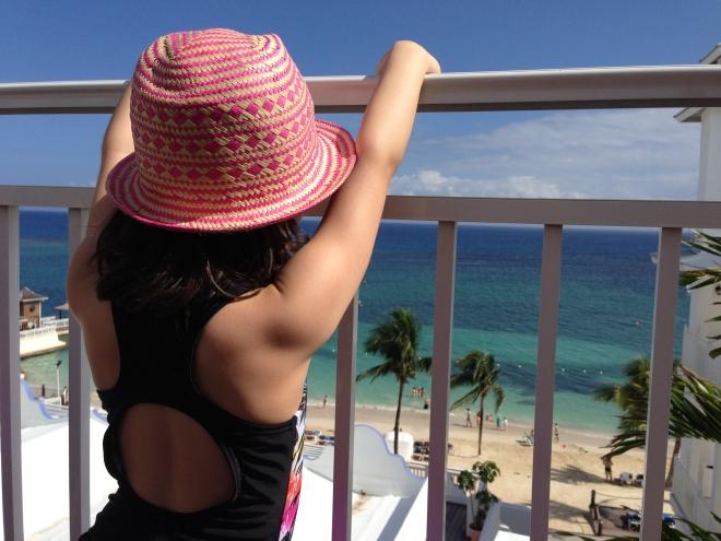 jamaica terrace overlooking beach
