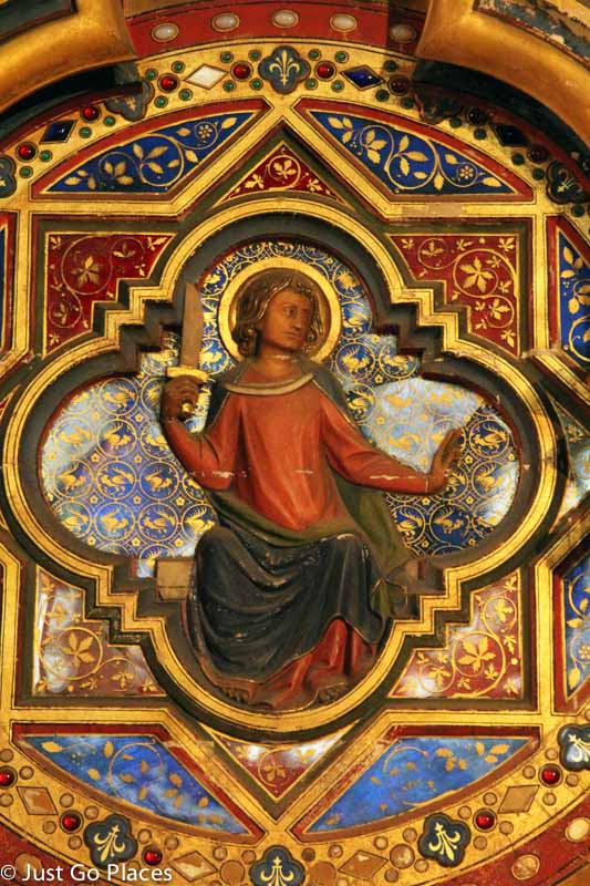 Icon on the wall of lower level of royal palatine chapel, Sainte