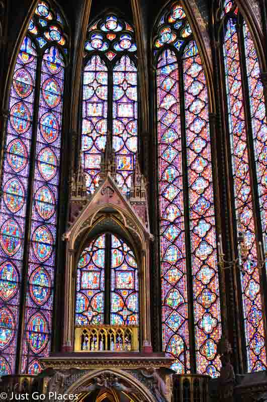 stained glass window saint chapelle