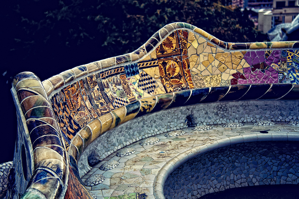 Park Guell bench