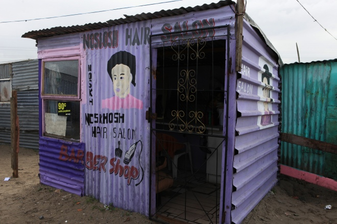 Barber shop in a township