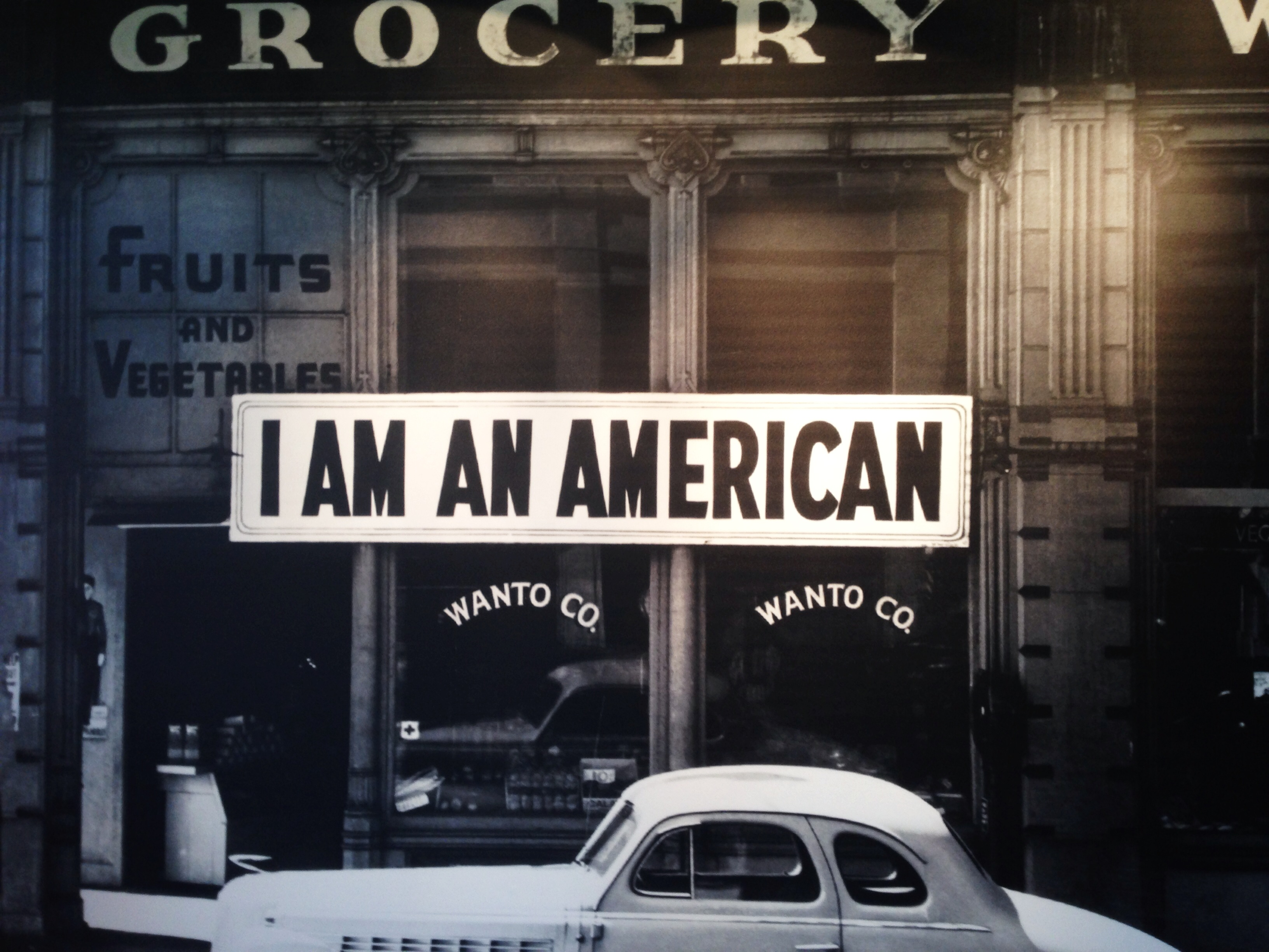 Japanese American grocery sign