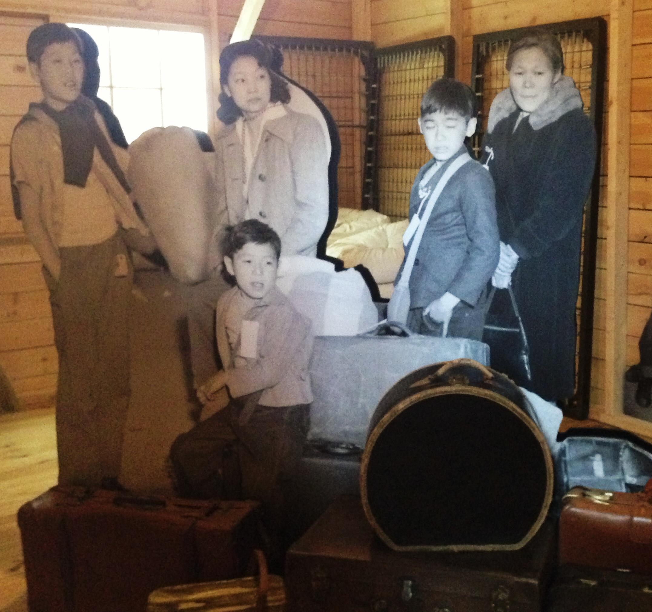 Japanese American family with their belongings
