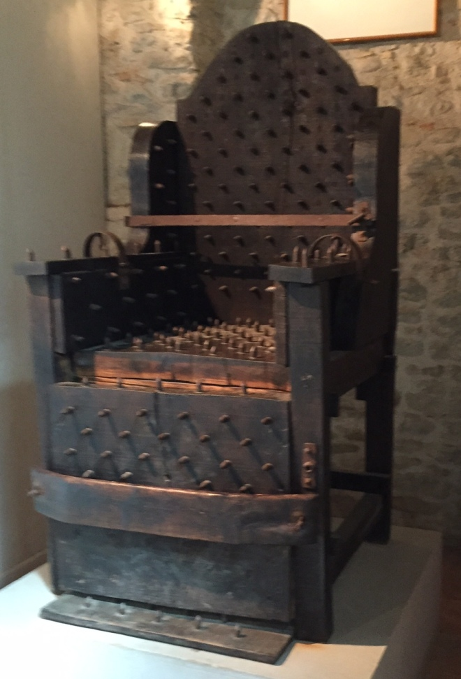 Nail Chair Torture Inquisition Museum