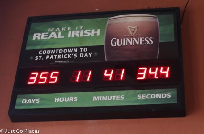 L Street Tavern countdown to St Patricks Day