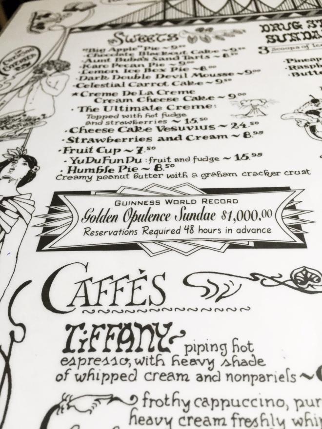 Serendipity III menu