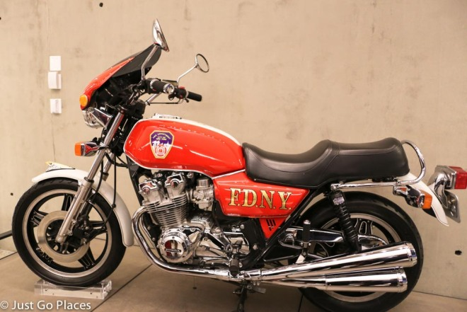 9/11 musem firefighter motorcycle