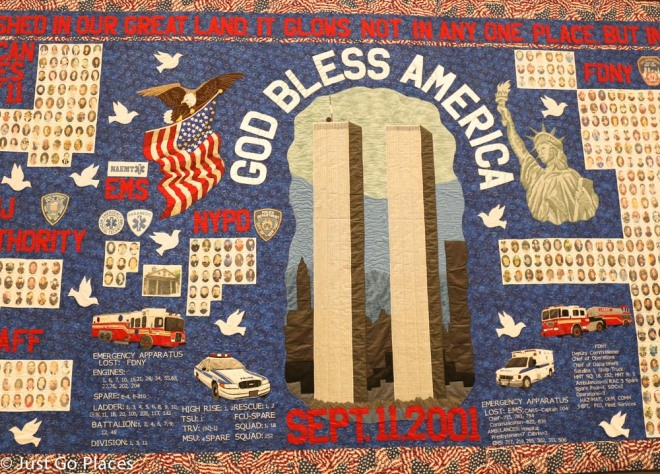 9/11 Museum quilt God Bless America