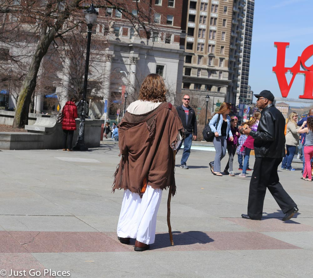 Jesus at love park