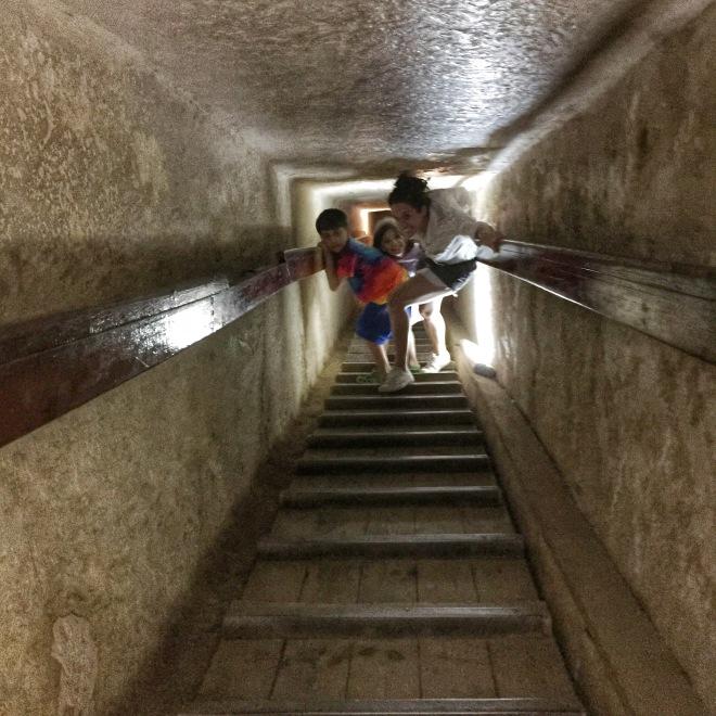 tunnel in Khafre pyramid