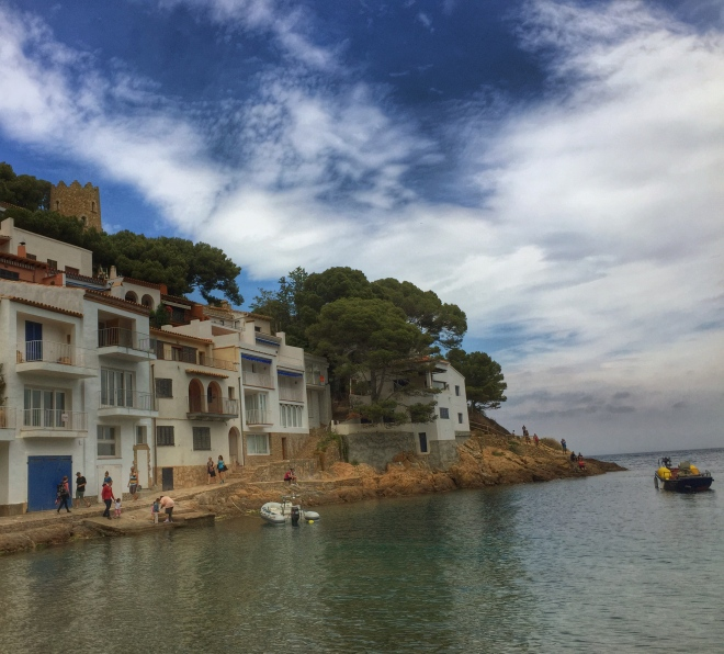 little village on the beach at begur