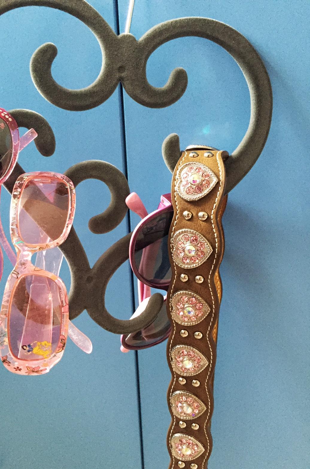 pink rhinestone heart belt