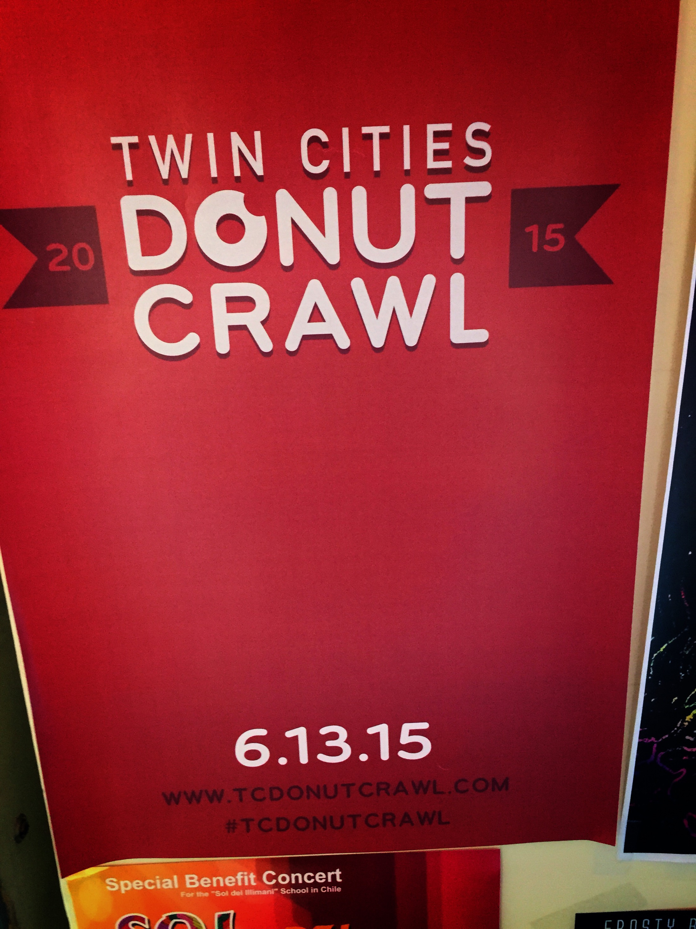 donut crawl flyer