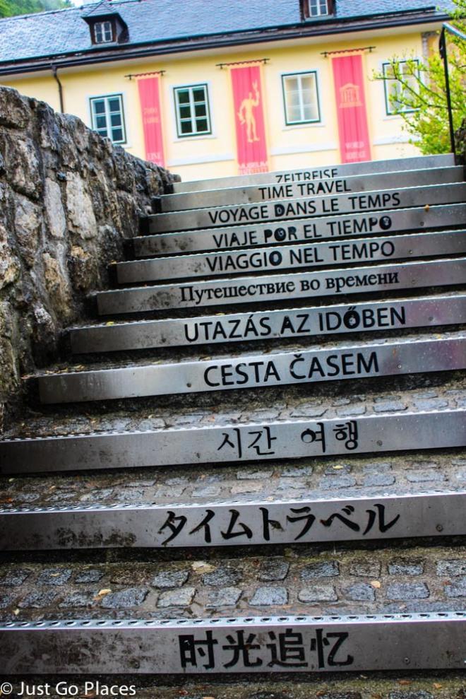 Hallstatt museum steps
