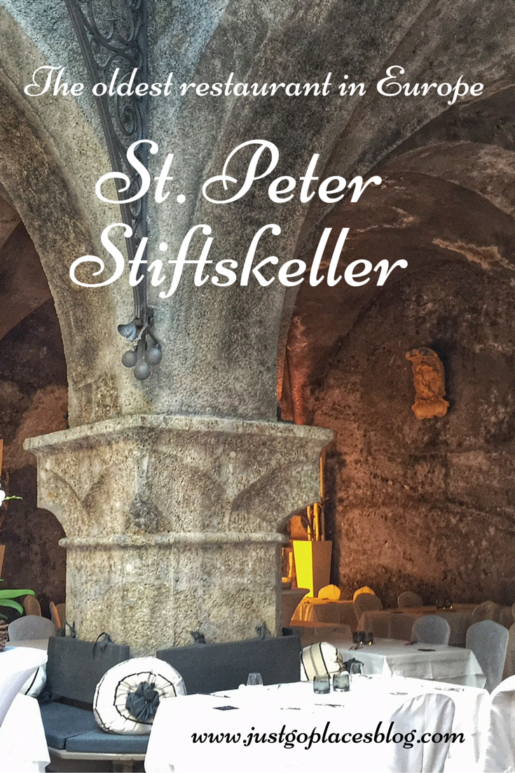 St. Peter Stiftskeller in the old town of Austria, the oldest restaurant in Europe
