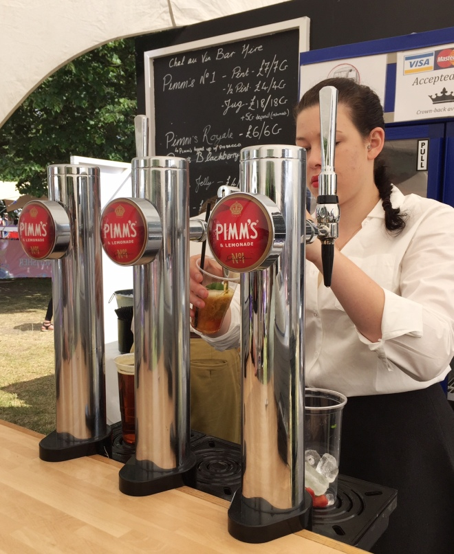 Pimms on tap